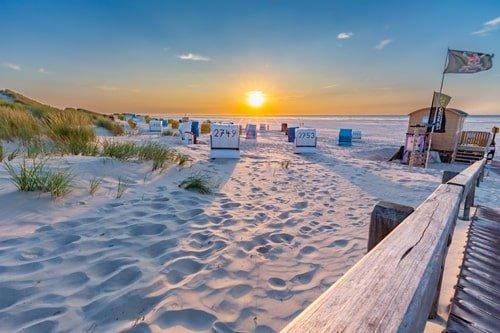 Sonnenuntergang Juister Strand