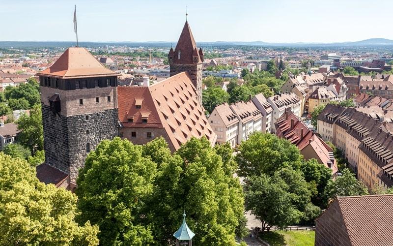 Blick auf die Burg Nürnberg