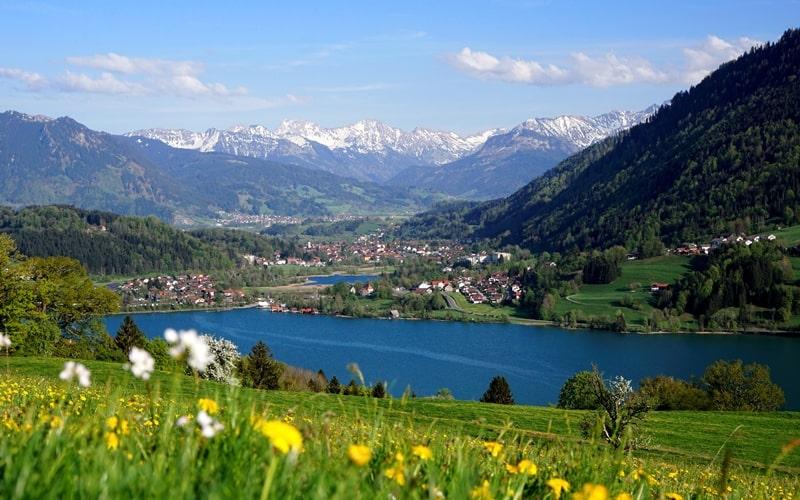 Großer Alpsee Immenstadt Bayern