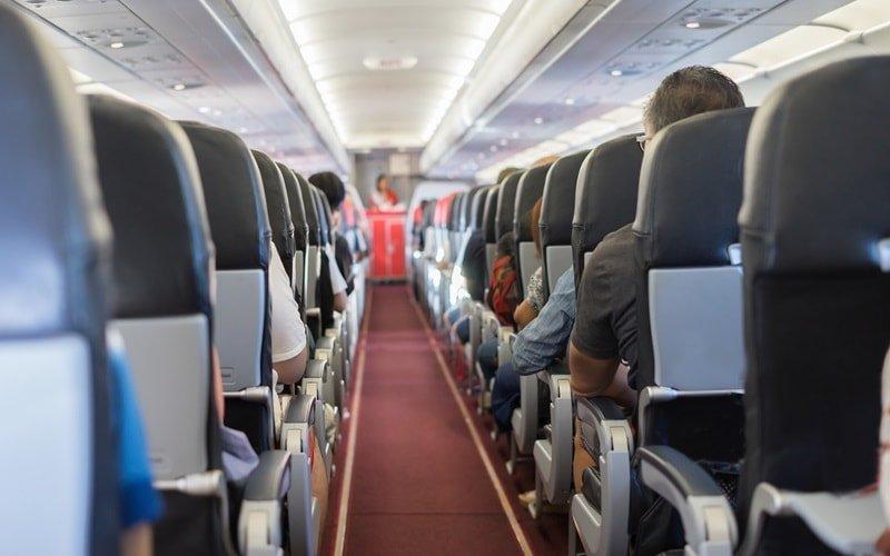 Platzmangel im Flugzeug