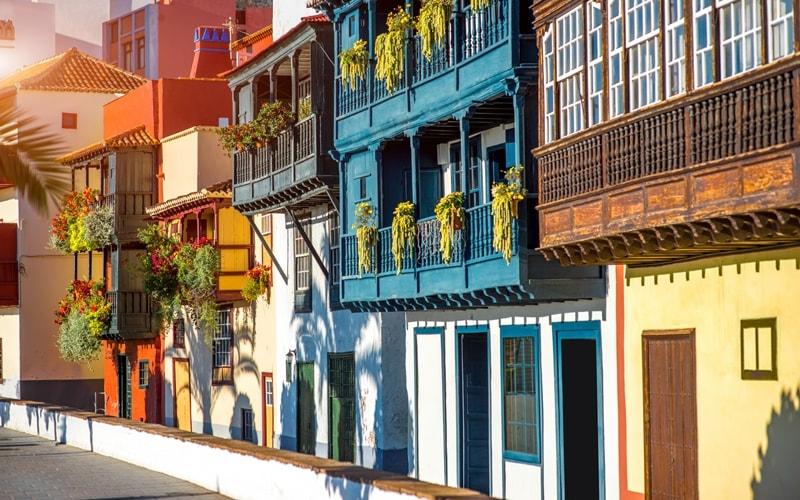 Balcones de la avenida Maritima in Santa Cruz de La Palma