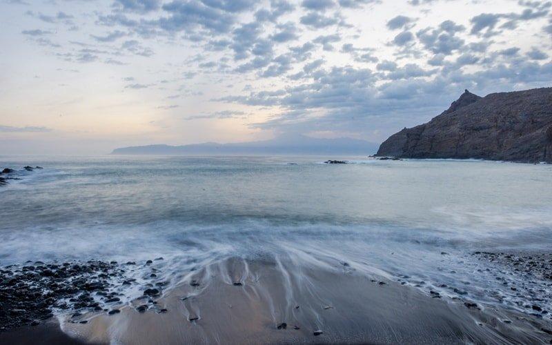 Menschenleere Idylle: Playa de la Caleta.