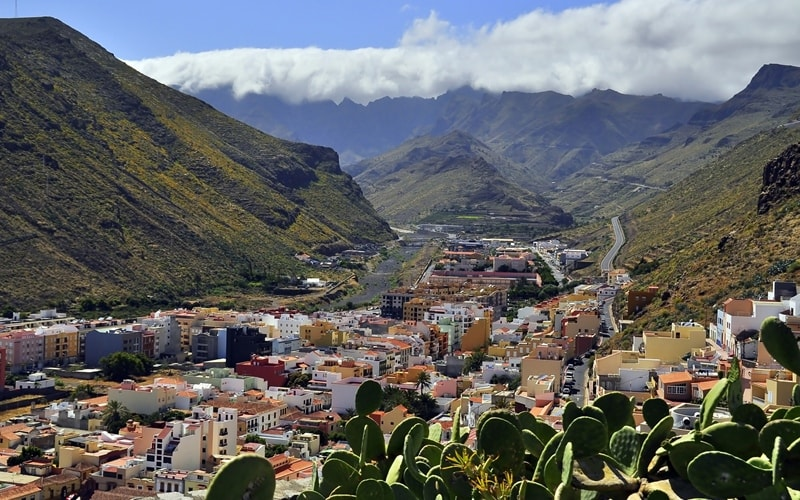 Das Tal von San Sebastián de La Gomera.