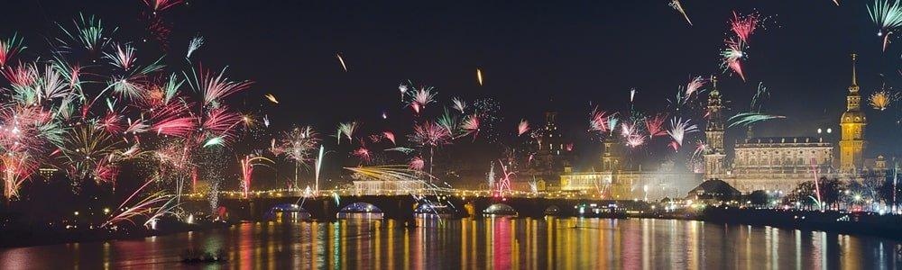 Silvesterfeuerwerk Dresden