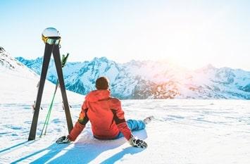 Österreich Februar Skifahren