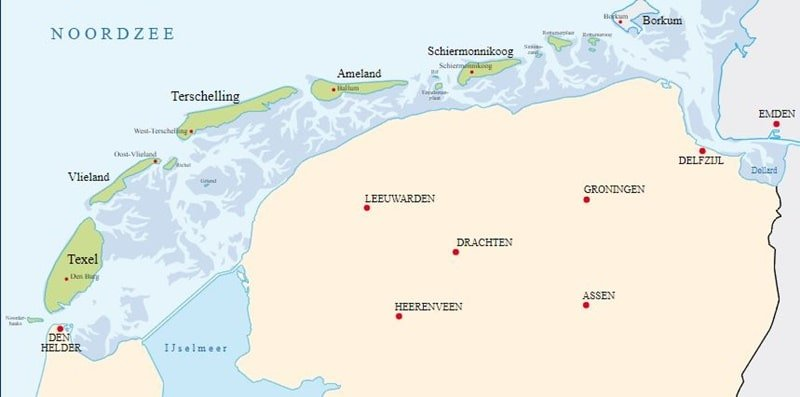 Hollandische Inseln 5 Westfriesische Inseln 2020 Mit