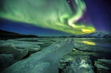 Polarlichter Island Februar