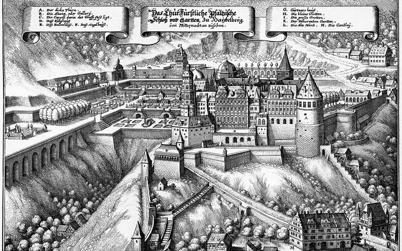 Burg Heidelberg Schloss historisch