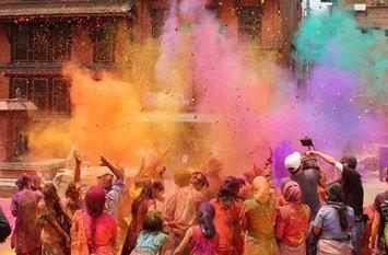 Holi Fest Indien März
