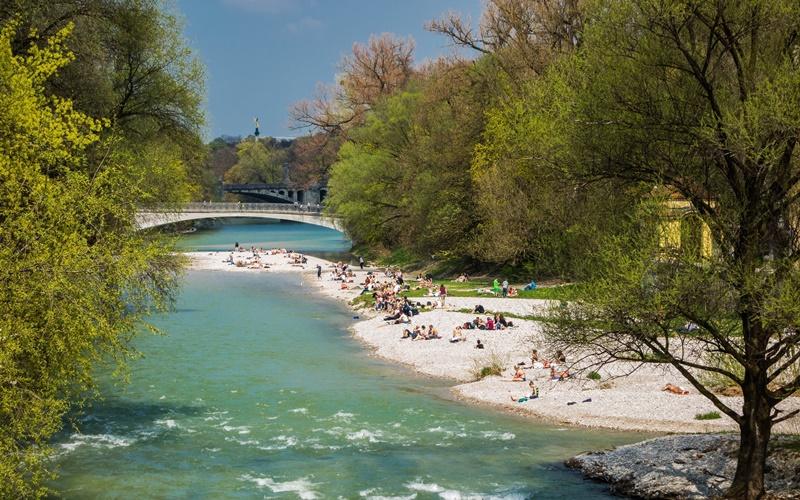 München Attraktionen Isar