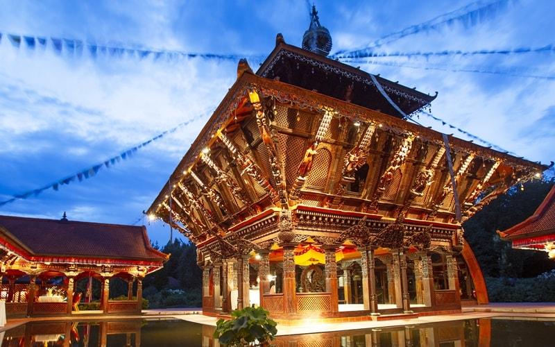 Nepal-Himalaya-Pavillon Sehenswürdigkeit bei Regensburg