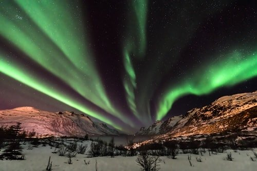 Polarlicht Norwegen März