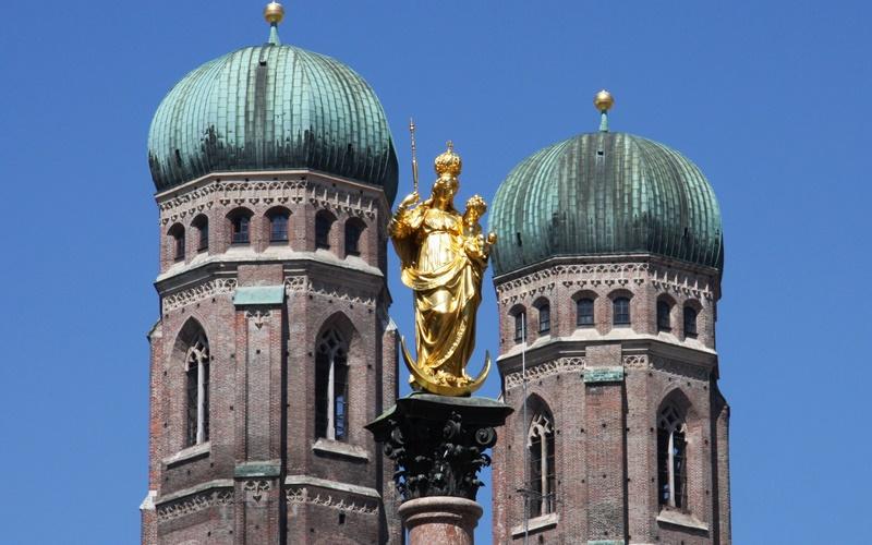 Sehenswürdigkeiten München Mariensäule Frauenkirche