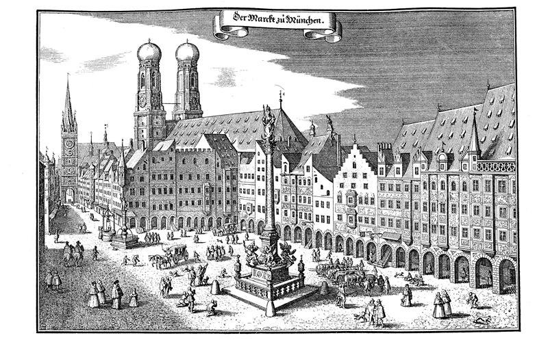 Sehenswürdigkeiten in München Marienplatz altstadt