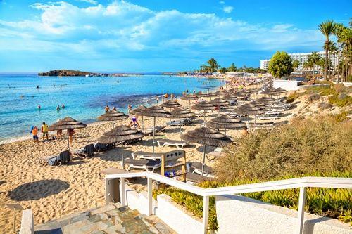 Strand von Aiya Napa auf Zypern
