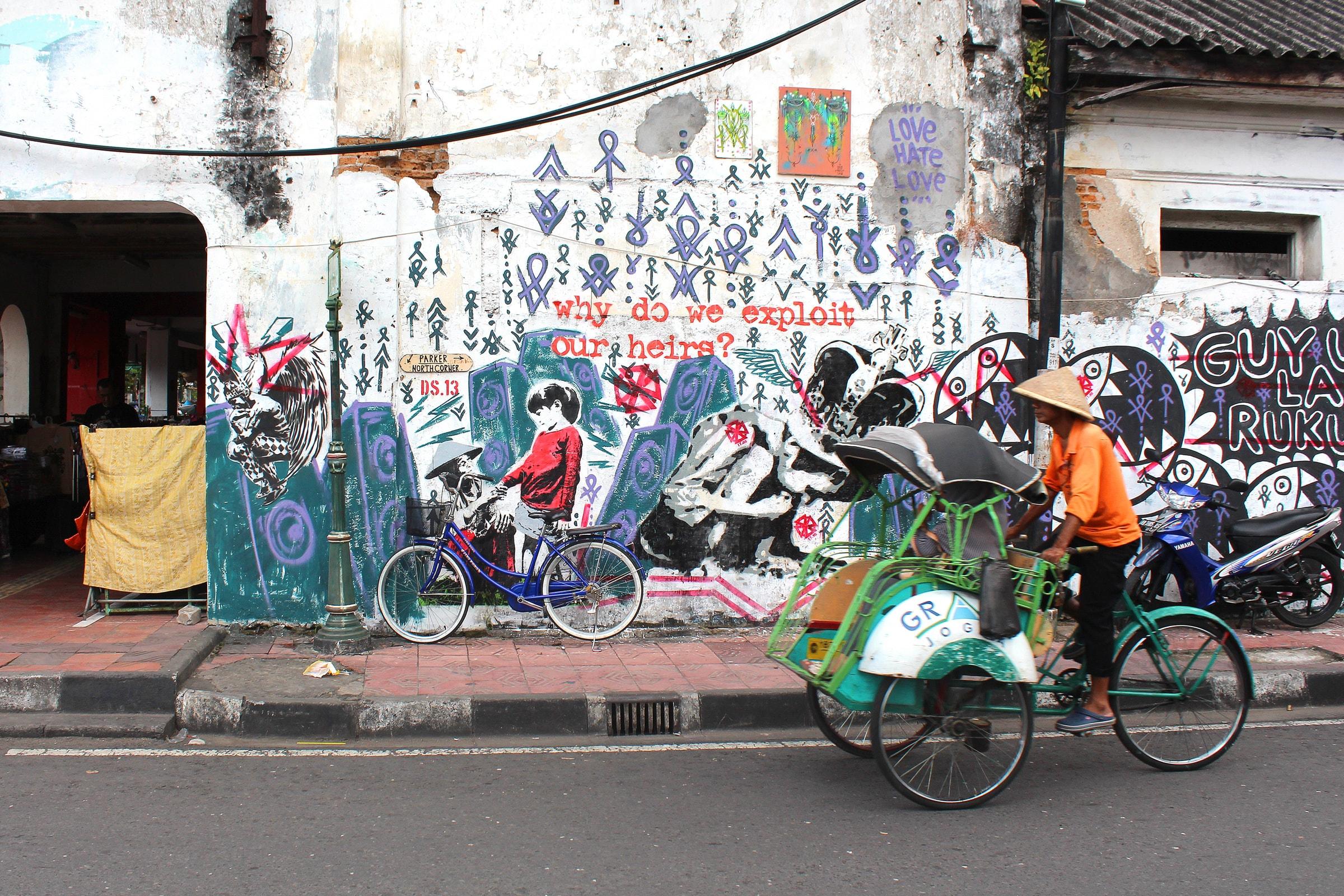 Streetart in Indonesien