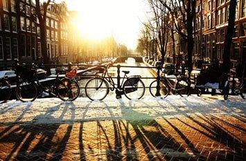 Amsterdam Dezember Winter