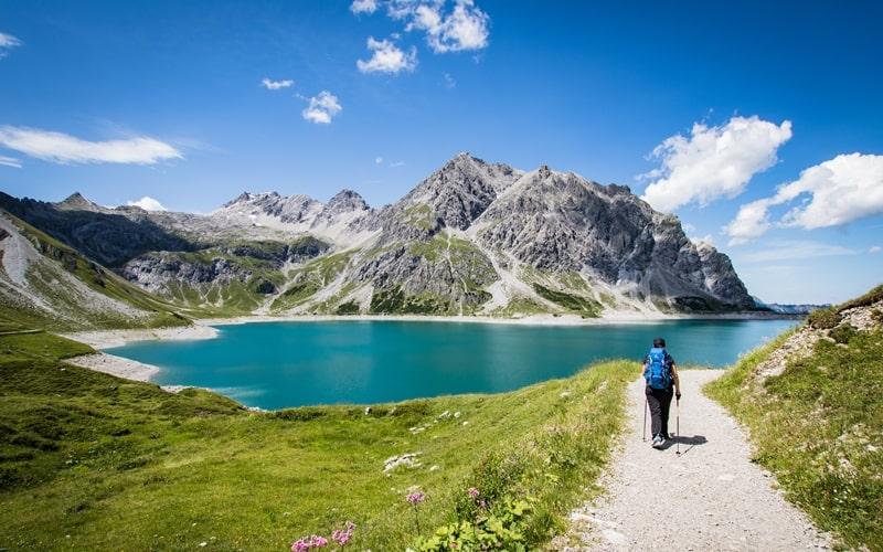 Lünsersee wandern in Österreich
