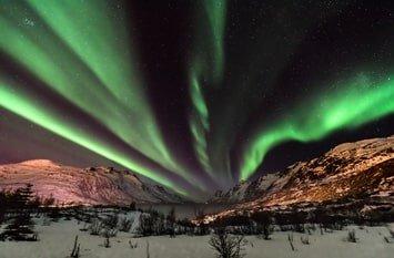 Norwegen Dezember Polarlichter