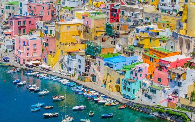 Italienische Insel Procida