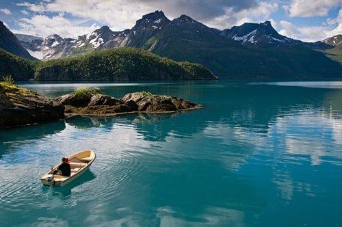 Angeln Norwegen Juli