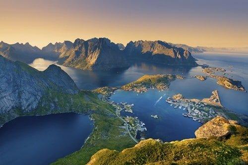 Fjord Norwegen Juli