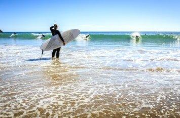Reiseziel August surfen Algarve