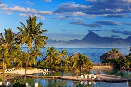 Tropisches Reiseziel Juli