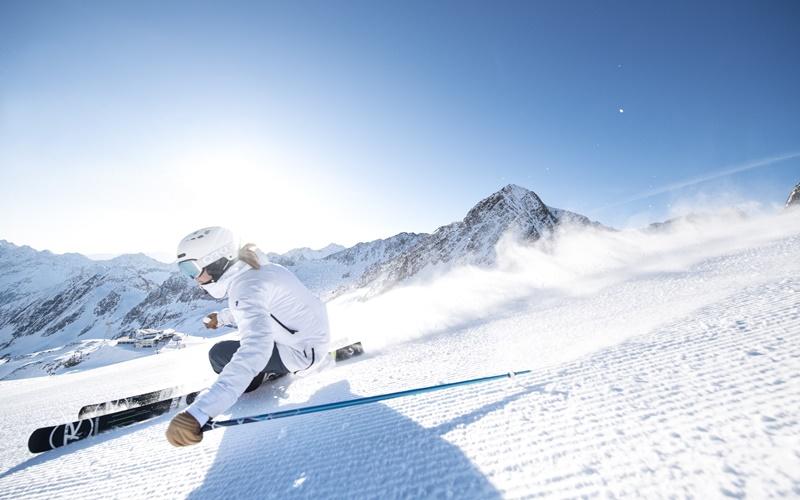 Skifahren Gletscher Österreich Stubaier Gletscher