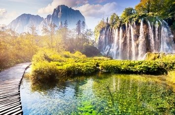 Galovac Wasserfall Plitvicer Seen