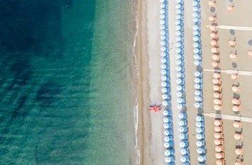 Italien Städte Positano Fornillo Beach