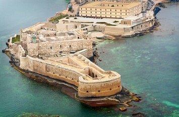 Italien Städte Syrakus Castello Maniace