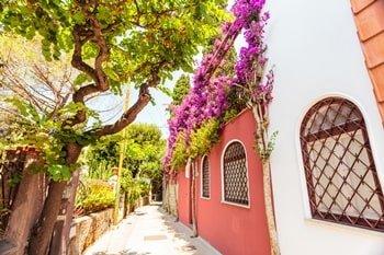 Italien Urlaub am Meer Capri Straßen