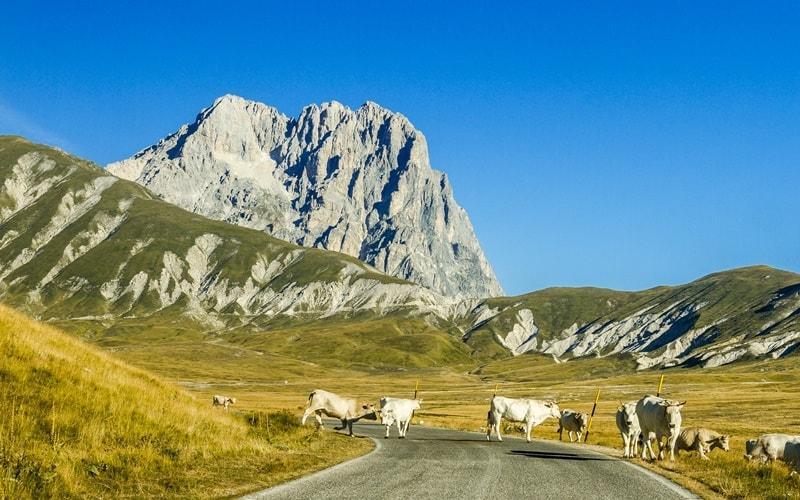 Italienische Landschaft Abruzzen