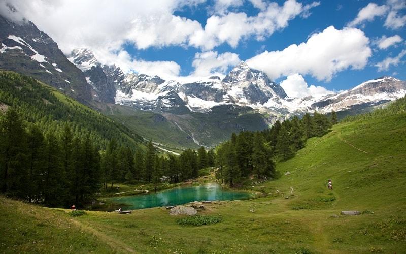 Italienische Landschaft Aostatal