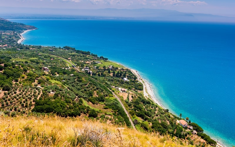 Italienische Landschaft Kalabrien