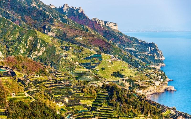 Italienische Landschaft Kampanien