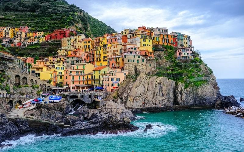Italienische Landschaft Ligurien