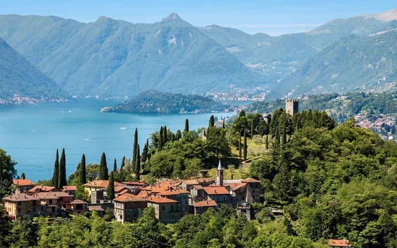 Italienische Landschaft Lombardei