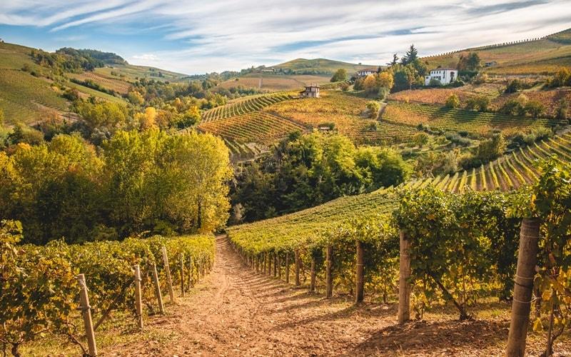 Italienische Landschaft Piemont