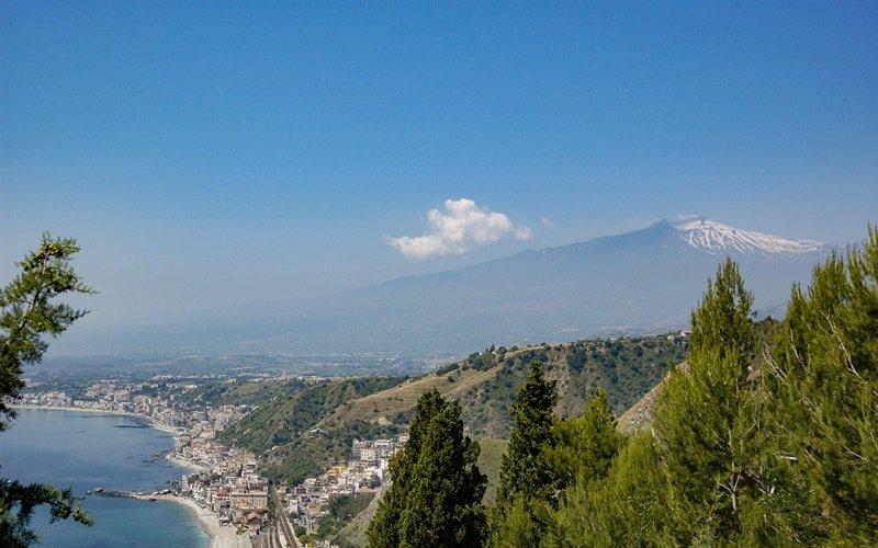 Italienische Landschaft Sizilien