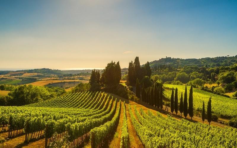 Italienische Landschaft Toskana
