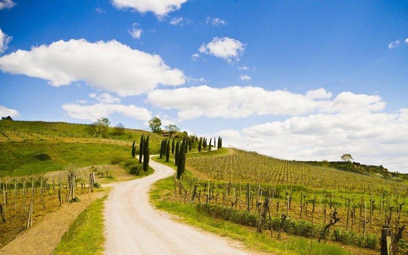Italienische Landschaft Umbrien