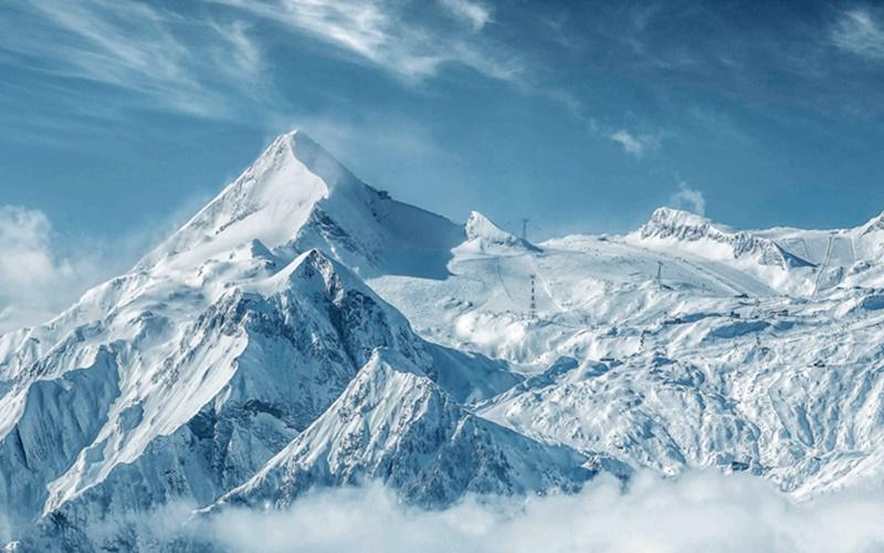 Kitzsteinhorn Panorama Gletscher Österreich