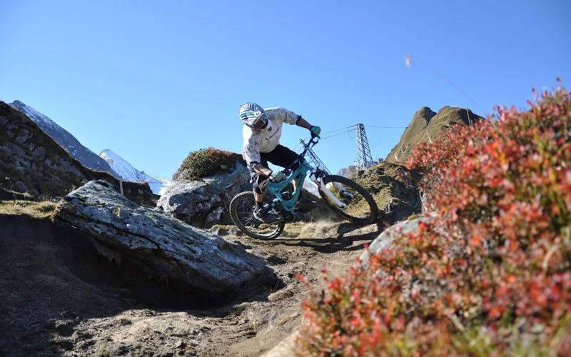 mountainbike gletscher österreich