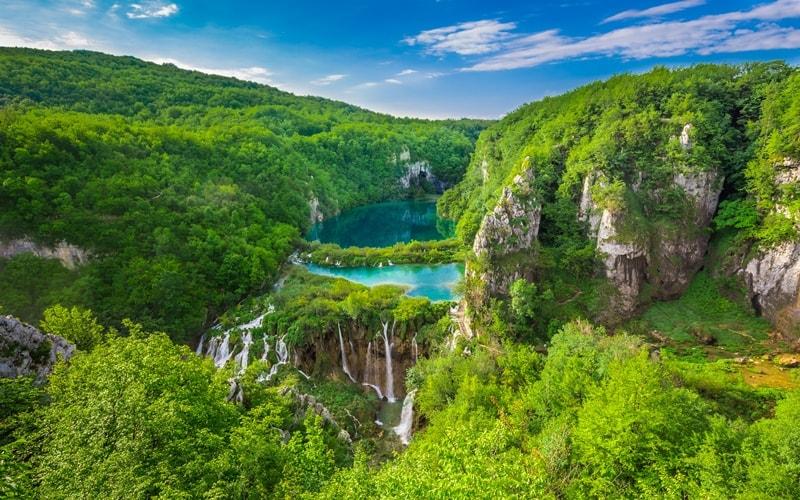 Nationalpark Kroatien Plitvicer Seen Wasserfall