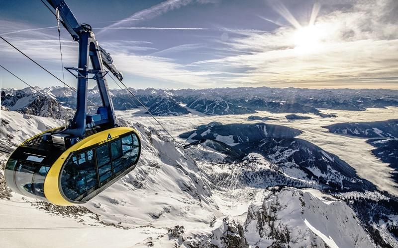 Panorama Gondel Dachsteiner Gletscher Österreich