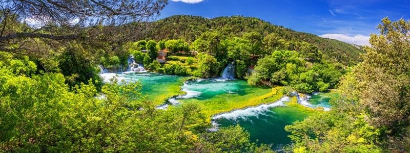 Wasserfälle Kroatien Krka Roski Slap