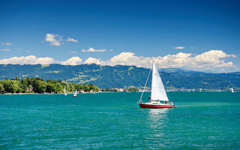bodensee segeln größter see österreich