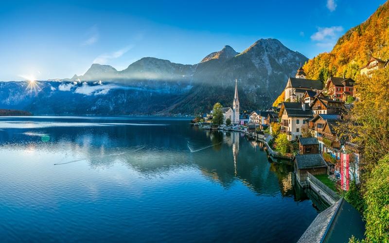 hallstatt see österreich